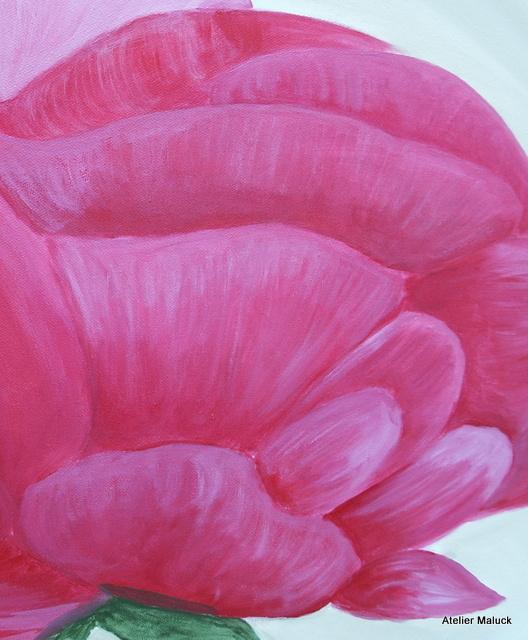 001Detail Pfingstrose 100x80 cm, Christiane Maluck
