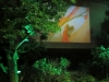 004 Projektion im Ateliergarten