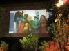 009 KInder dieser Welt Projektion im Ateliergarten