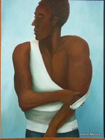 Black Body, 1994, Oel, 60x80 cm
