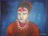 Kumari, Schutzgoettin vom Koenig in Nepal, 50x40 cm, Oel