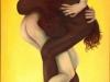 Ismael Ivo, brasilianischer Tänzer, war u.a. Choreograph in Weimar, Oelfarbe, 80x120 cm