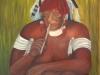 Takuma, oberster Heiler und Hellseher in der Amazonasregion, Oel, 50x70 cm