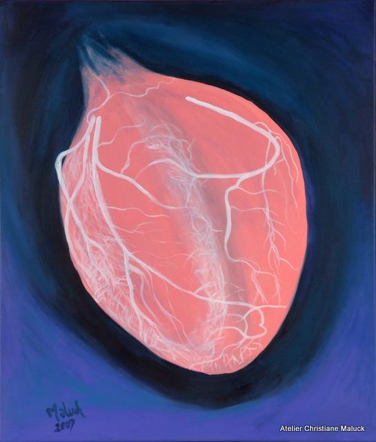 015 Das Herz mit rechter und linker Herzkranzarterie