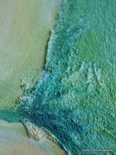 006 Detail:Beginn der Zellteilung, 80x100 cm Acrylfarbe mit Sand