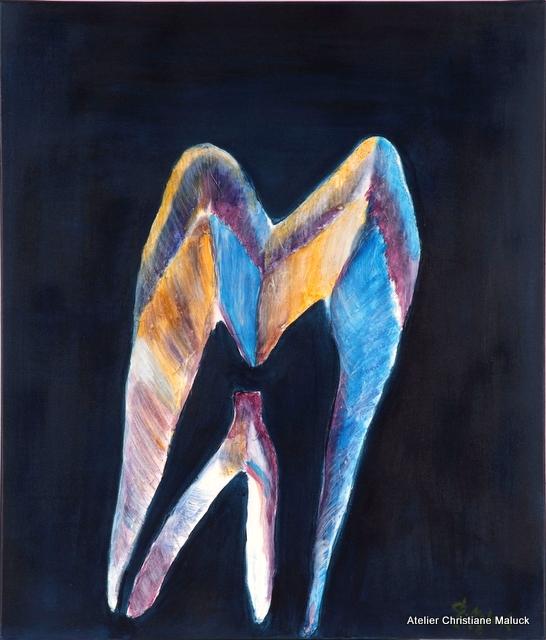 014 Zahn, Acrylfarbe, 60x70-cm