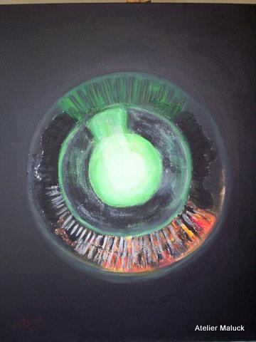 004 Das Auge von Innen nach Außen betrachtet, 60x70 cm