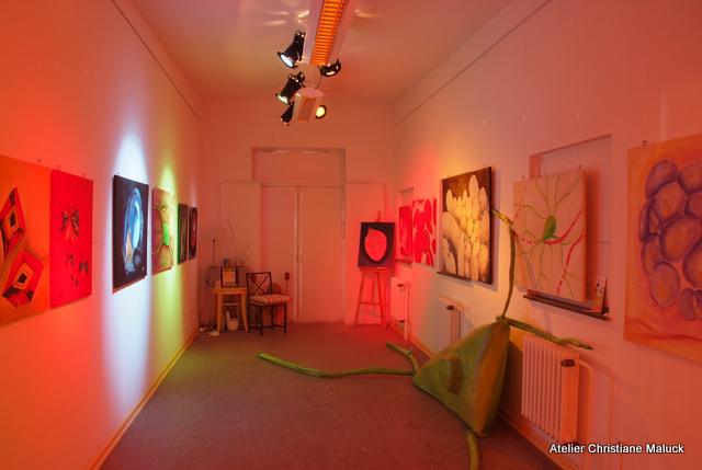 Ausstellung im Dunkeln