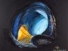 011 Vier der insgesamt 5 Hirnkammern bilden ein Netz sich verzweigender Gänge, 100x80 cm