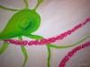 005 Nahaufnahme: Eine Nervenzelle aus dem Auge mit Kapillare, 100x80 cm, Acrylfarbe