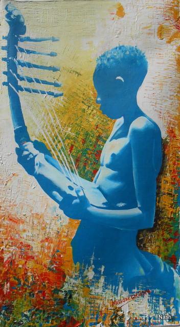 13 Harfe 68x39 cm von Nash