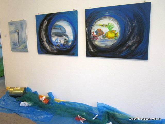 007 Plastikmeer, Christiane Maluck Bilder mit Lawa gemalt
