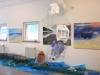 002 Plastikmeer, Rauminstallation einer Reuse mit Plastik, Ch.Maluck