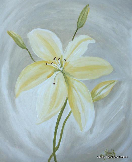 004 Lilie, Öl, 60x70 cm, Christiane Maluck