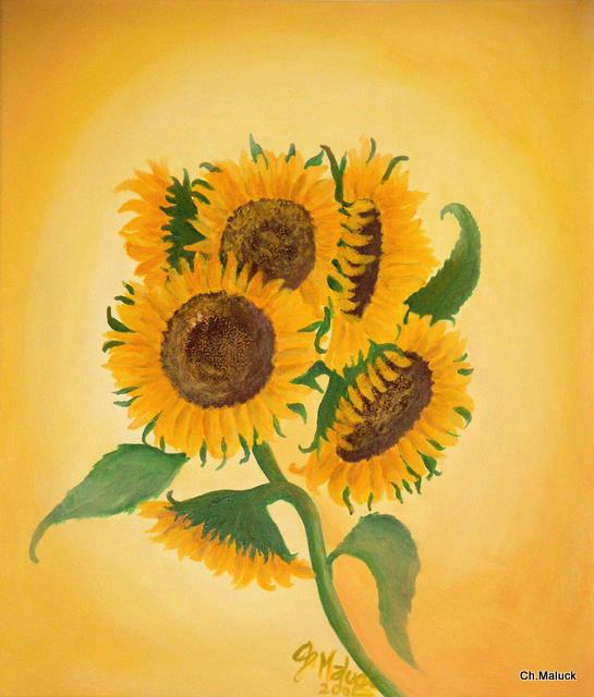 011 Sonnenblumen, 60x70 cm