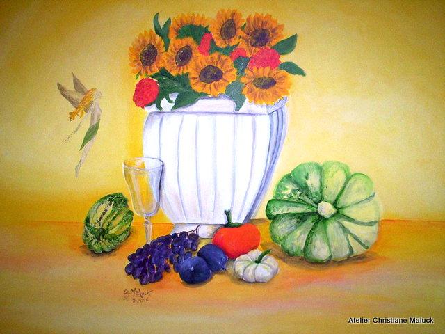 016 Herbststilleben, 100x80 cm