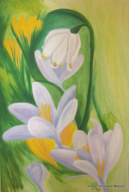 001 Märzbecher, 70x120 cm Acrylfarbe